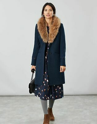 Joules Langley Longline Coat With Faux