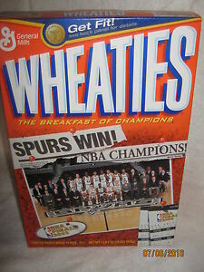 San Antonio SPURS 2003 Wheaties Cereal Box 18oz.(With Cereal) MINT Condition