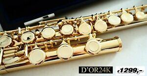 Flauto Traverso Giallo 24 Ktflute Flaut Flauti Oro 24 Kgold , Flauta Oro Dor