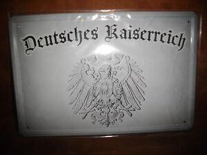 Blechschild-Deutsches-Kaiserreich-ca-20x-30-cm-gross-gewoelbt