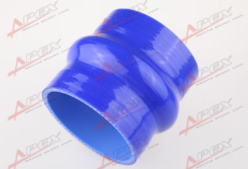 """89mm 3.5/"""" Hump Straight Silicone Hose Intercooler Coupler Tube Pipe Blue"""