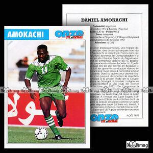 AMOKACHI DANIEL (RANCHERS BEES, FC BRUGES) - Fiche Football / Voetbal 1994 - France - Une fois l'objet reu, contactez le vendeur dans un délai de Frais de retour 14 derniers jours Acheteur - France