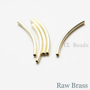 60 Pieces Raw Brass Tube 2x25mm with ID 1.4mm CW-1684C-T-2