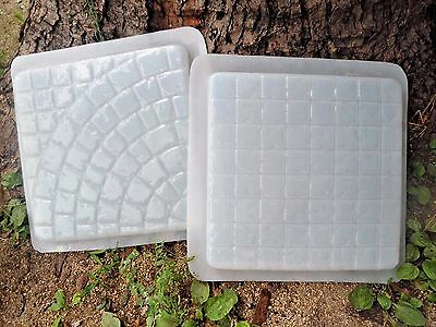 "set patio paver stepping stone molds 16"" x 2"" thick 1/8th"" poly plastic moulds"
