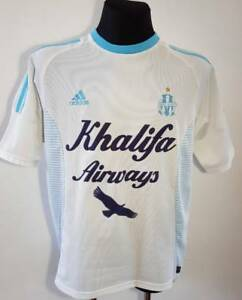 timeless design ae2e5 6d121 Details about OLYMPIQUE MARSEILLE FOOTBALL JERSEY 2001 2002 AWAY SHIRT  VINTAGE RARE SIZE L