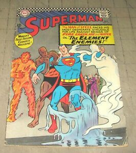 SUPERMAN #190 (Oct 1966) Mid-Grade Condition Comic - The Element Enemies
