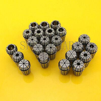 "23pcs ER20 Spring Collet Chuck Tool Set CNC 1mm-13mm 1.5mm-7.5mm 1/8"" 1/4"" 1/2"""