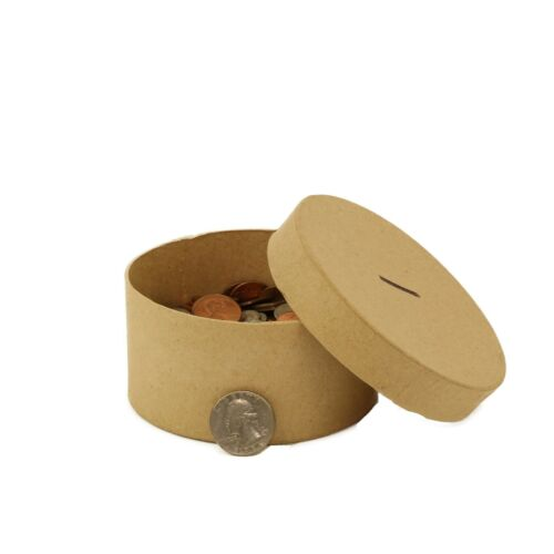 Round Paper-Mache Box DIY Gift Box with Lid by Better Crafts