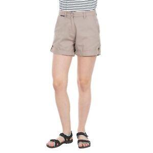 Trespass-Rectify-Summer-Lightweight-Brown-Women-Shorts-100-Cotton
