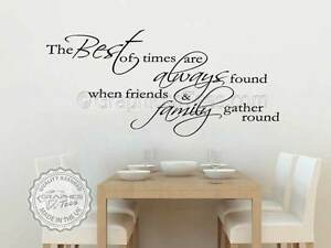 Inspirational Family Wall Sticker Best Of Times Kitchen Dining Room Wall Quote Ebay