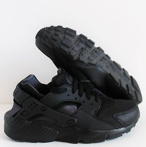 NIKE HUARACHE RUN (GS) ALL BLACK SZ 5Y-WOMENS SZ 6.5 [654275-020]