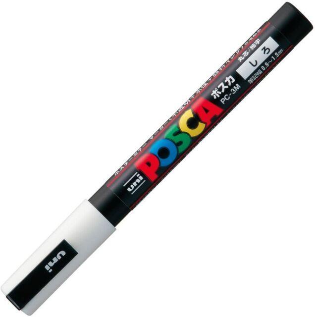 Fine Point Uni Posca PC3M.1 Water-Based Paint Marker White