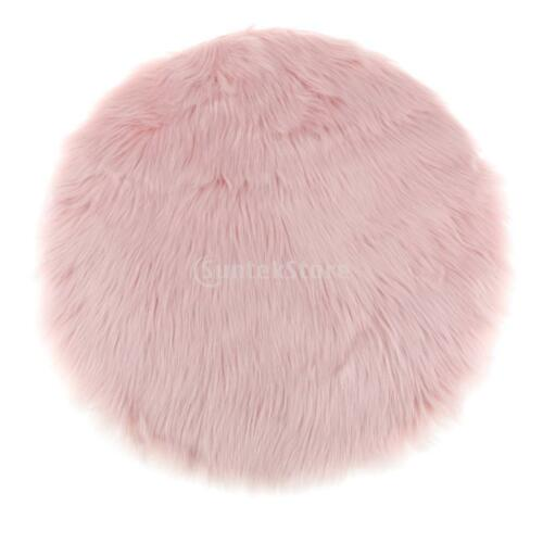 Light Pink Fluffy Mat Rugs Soft Girls Boys Fake Faux Fur Bedroom Rug 80cm