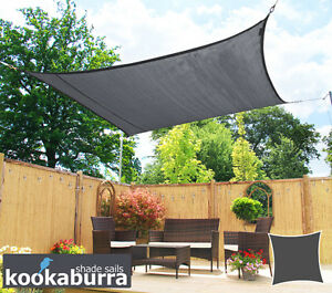 Kookaburra Charcoal 3 6m Square Sail Shade Breathable Knitted Canopy