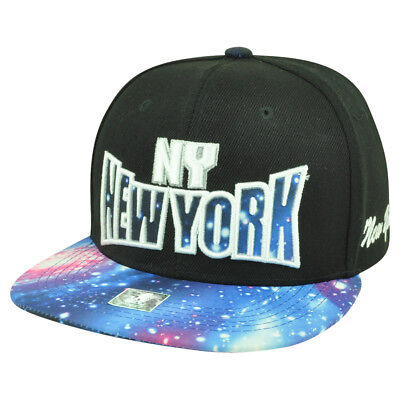 New York City Ny Nyc Galactic Sublimiert Galaxy Flat Bill Snapback Schwarz Kappe Noch Nicht VulgäR Weitere Ballsportarten Sport
