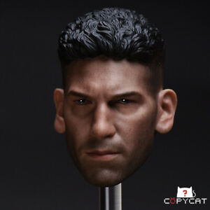 Punisher-JON-BERNTHAL-Head-Sculpt-1-6-Scale-Fit-12-034-Action-Figur-Sammlung