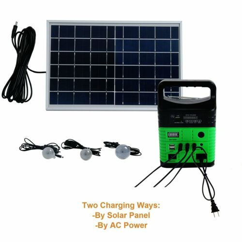 10W Solar Generator Lighting Kit with Solar Panels and LED Lights Portable