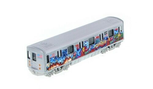 "MTA New York City Metro Subway 7"" Diecast Model with Chico Graffiti"