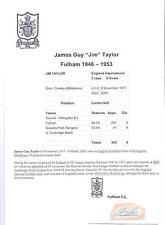 JIM TAYLOR FULHAM 1946-1953 RARE ORIGINAL HAND SIGNED CUTTING/CARD