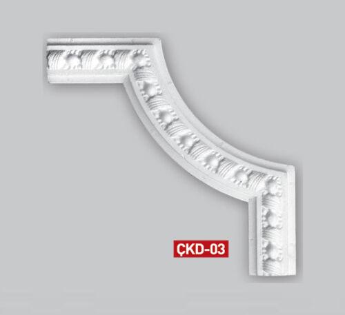 1 Set (4 Stück) Zierecken Rahmen Zierprofile Stuckleisten Styropor Stuck CKD3