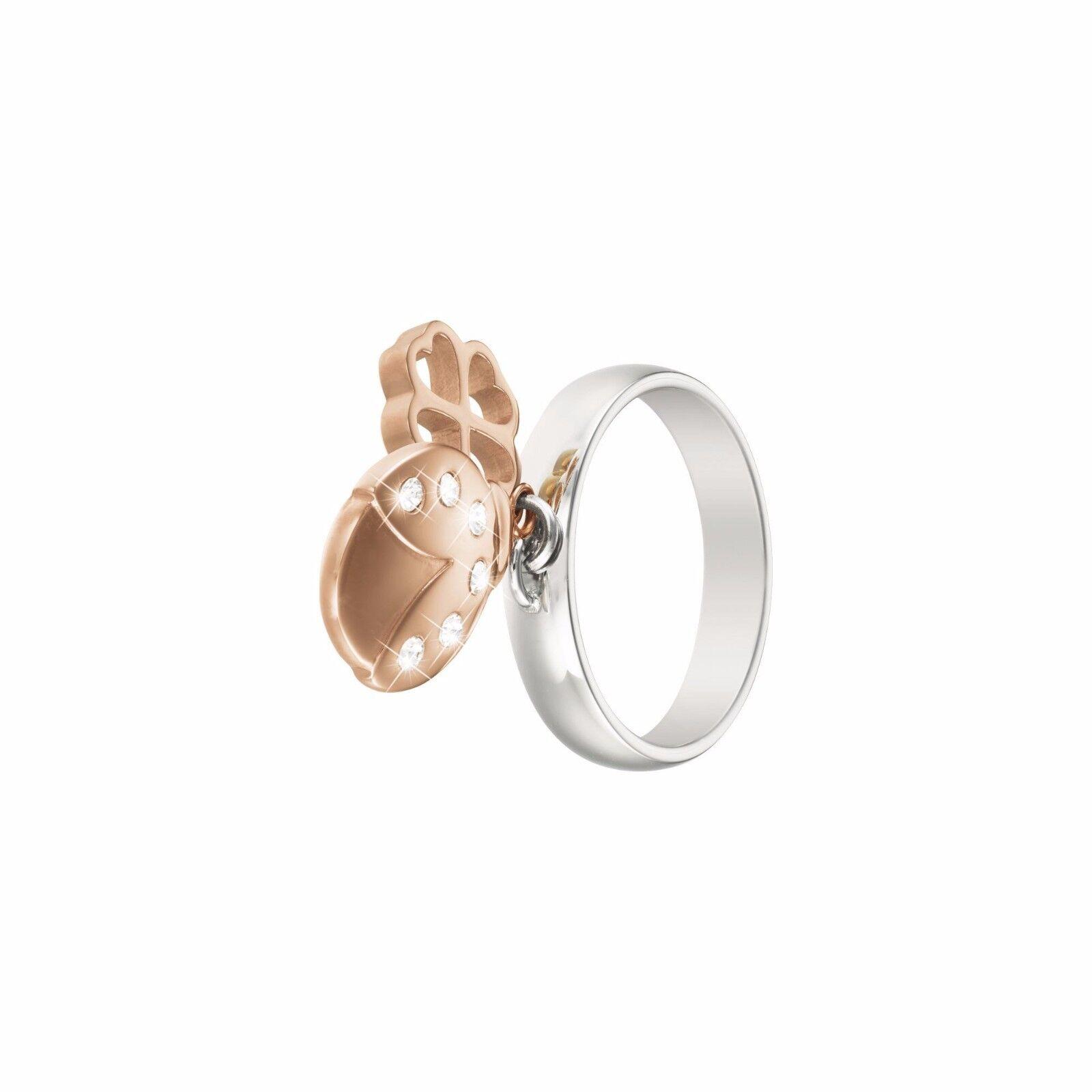 Anello coccinella  STROILI in acciaio rodiato e cristalli LADY GLAM 1628011