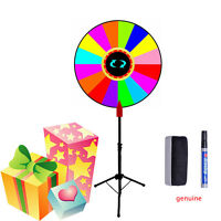 24 Prize Wheel Of Fortune Tabletop Spin Game +folding Tripod Metal Floor Stand