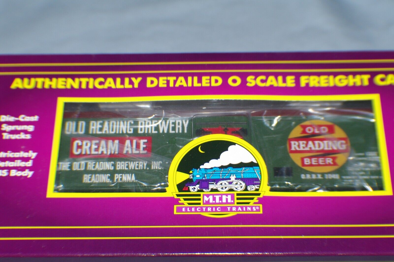 O SCALE MTH OLD READING CREAM ALE BEER CAR NEU READING BREWERY