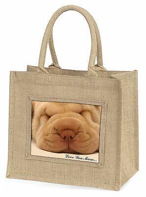 Shar Pei Welpe 'Liebe, die Sie Mama' Große Natürliche Jute-einkaufstasche Chris,