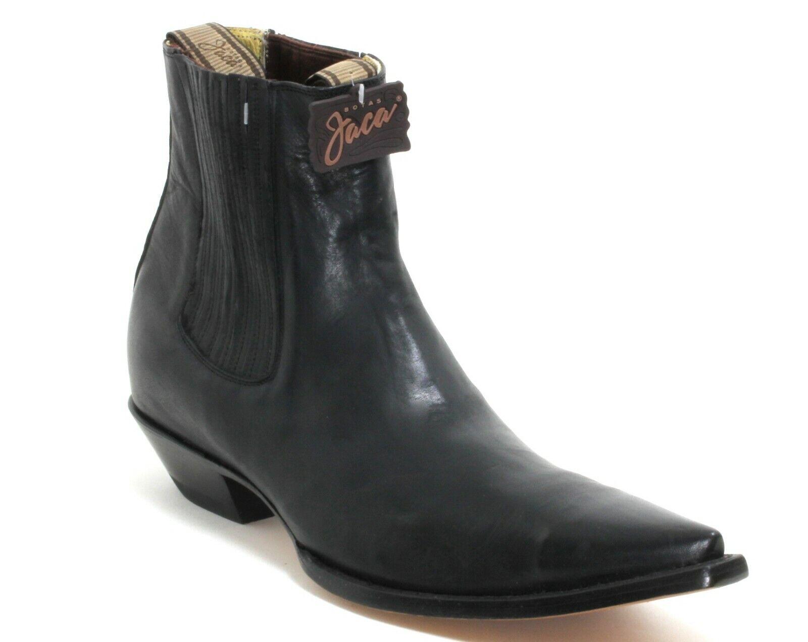 56 Western Bottes Bottes De Cowboy Jaca bottes catalan Style Line Dance Noir 38