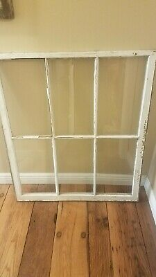 9 Pane Window Vintage Sash Antique Frame Old Shabby Wood Window Gift For Wife