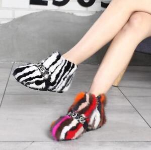 hiver neige talon X011 bas Femmes chaussures Zip couleur fourrure mixte bottines chaud à EqAxPZ8