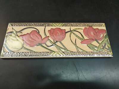"""12/""""L x 4/""""W Tile Border Antique Vintage 1990s Ceramic Home Decor Collectible"""