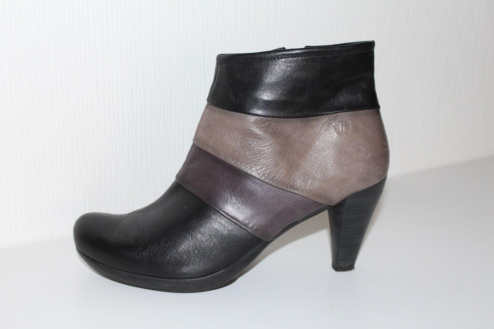Zapatos especiales con descuento HISPANITAS Damen ECHTLEDER STIEFELETTEN High HEEL Ankle BOOTS 40 BOOTIES STIEFEL