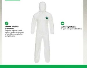 Lakeland Protective Suit 2X Micromax NS with hood - zipper front