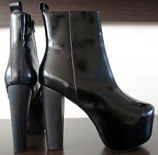 JEFFREY CAMPBELL F1583 Leder Boots Stiefel Stiefeletten Damen Black Gr.38 NEU