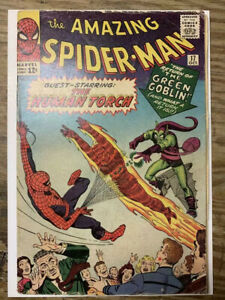 The-Amazing-Spider-Man-17-Silver-Age-Marvel-Comic-Book-2nd-Green-Goblin-VG