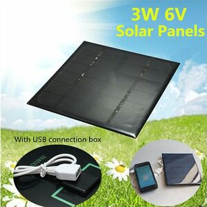 3W-6V-Monocrystalline-Solar-Panel-Battery-Charging-Board-With-USB-Connection