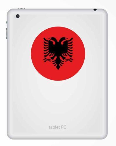 2 X 10 Cm Albania Bandera pegatina de vinilo portátil de viaje en coche equipaje Etiqueta Label # 9505