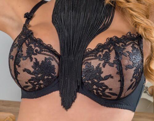 Soutien-Gorge Set NOIR armatures soutien-gorge String Transparent Femmes Lingerie Sous-vêtements