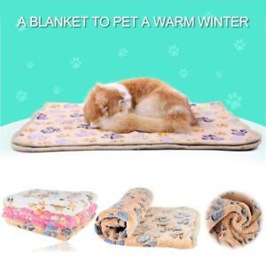 Pet-Dog-Cat-Puppy-Kitten-Soft-Blanket-Doggy-Warm-Bed-Mat-Paw-Print-Cushion-Sofa