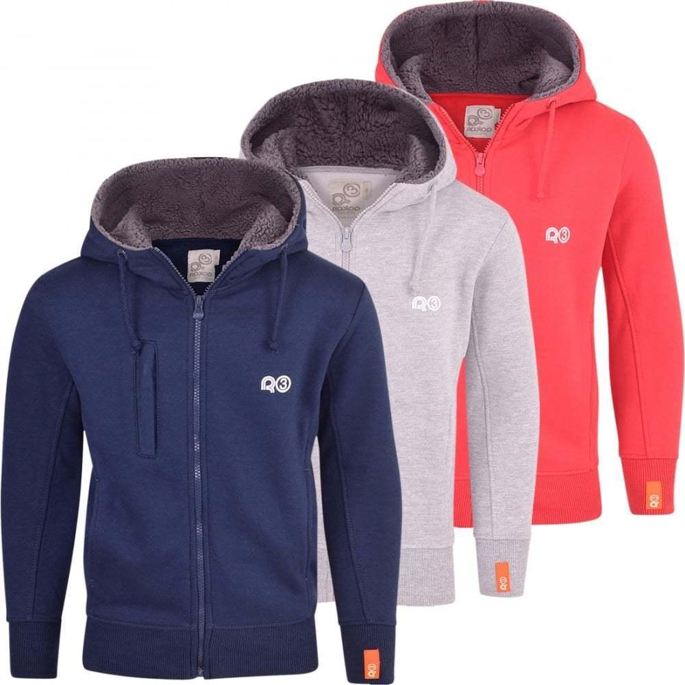 Ripstop Designer Boys Childrens Casual Hooded Logo Hoody Sweatshirt Top Jacket