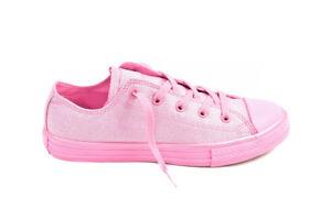 2 £ 659961 Ctas Shinny Converse Uk Rrp Zapatos Ox Junior Bcf88 49 Pink Cotton qInqwPzxB