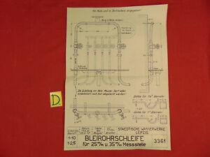 Schema Bleirohrschleife Für 25 M/m U 35 M/m Messstelle Geschickte Herstellung Bücher Schlosser