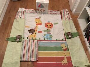 100% De Qualité Unisexe Next Baby Safari Amis Nursery Set-afficher Le Titre D'origine Cadeau IdéAl Pour Toutes Les Occasions