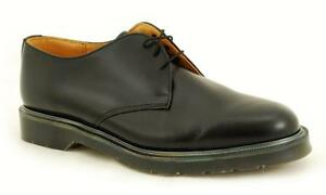 Solovair-NPS-Shoes-Made-in-England-3-Eye-Black-Shoe-S028-L3995