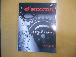 2003 honda crf230f factory service shop repair manual ebay rh ebay com crf230f service manual free honda crf 230 service manual