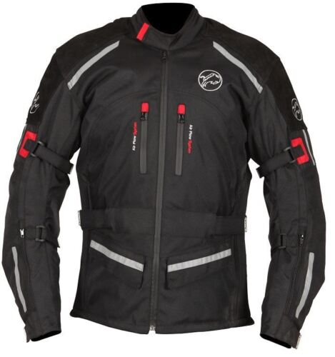 Buffalo Horizon Waterproof Motorcycle Jacket Black Winter Touring Motorbike