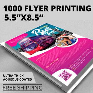 Image Is Loading 1 000 Flyer Printing Custom 8 5x5 5