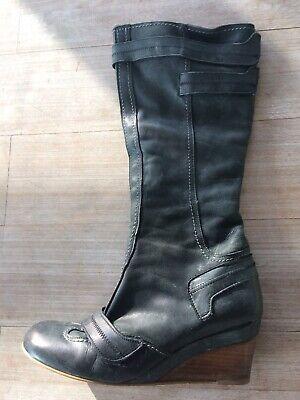 Støvler, str. 40, Dune, Sort, Skind, God men brugt, St
