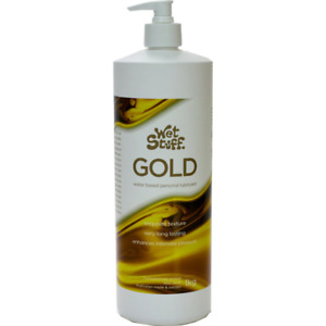 Wet Stuff Gold Personal Lubricant Water Based Lube Edible Sex Toy Condom Safe